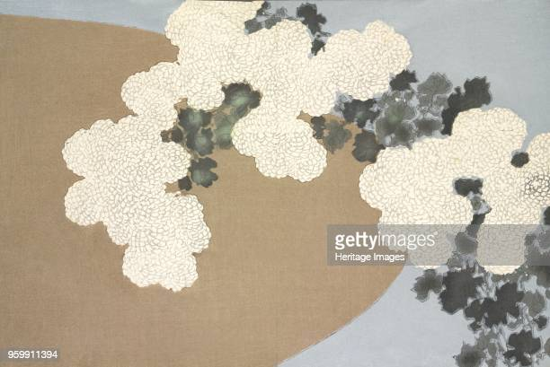MomoyoGusa fromMomoyogusa The World of Things Vol I pub1909 colour block woodcut Moyomo Flowers