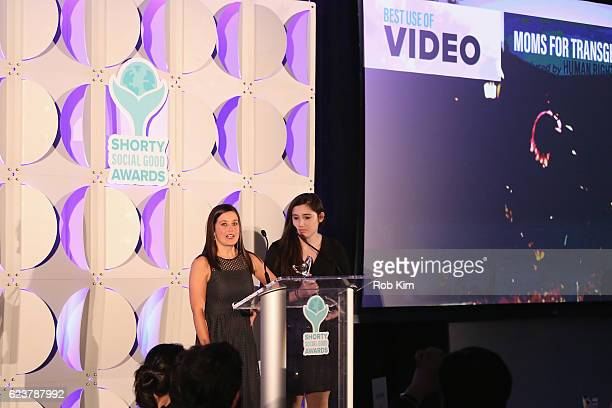Moms for Transgender Equality receives the Best Use of Video Award during the 1st Annual Shorty Social Good Awards at Apella on November 16 2016 in...