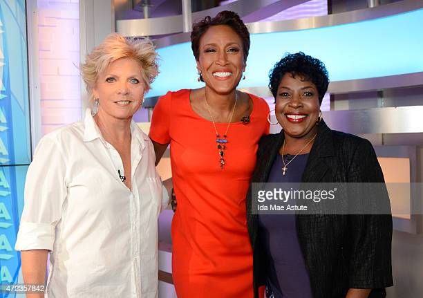Moms Meredith Baxter and Jo Marie Payton compete with audience members in a trivia contest on GOOD MORNING AMERICA 5/6/15 airing on the Walt Disney...