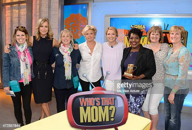 Moms Meredith Baxter and Jo Marie Payton compete with audience members in a trivia contest on GOOD MORNING AMERICA, 5/6/15, airing on the Walt Disney...