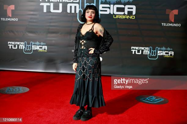 Mon Laferte arrives to Premio Tu Musica Urbano at Coliseo Jose Miguel Agrelot on March 5 2020 in San Juan Puerto Rico