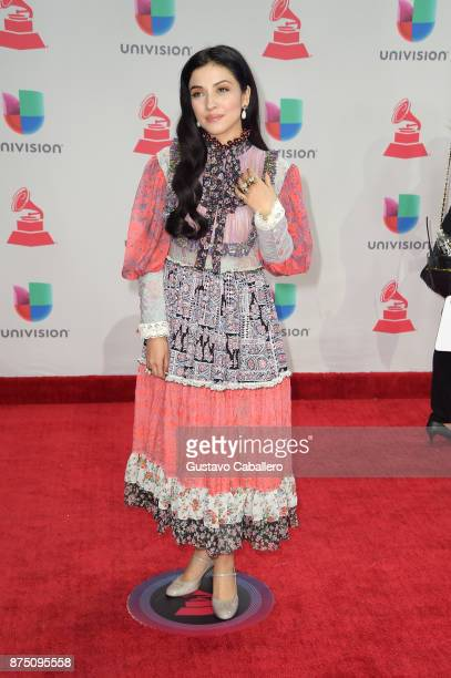 Mon Laferte attends the 18th Annual Latin Grammy Awards at MGM Grand Garden Arena on November 16 2017 in Las Vegas Nevada