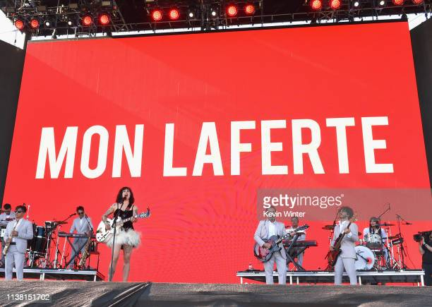 Mon Laferte performs at Coachella Stage during the 2019 Coachella Valley Music And Arts Festival on April 19 2019 in Indio California