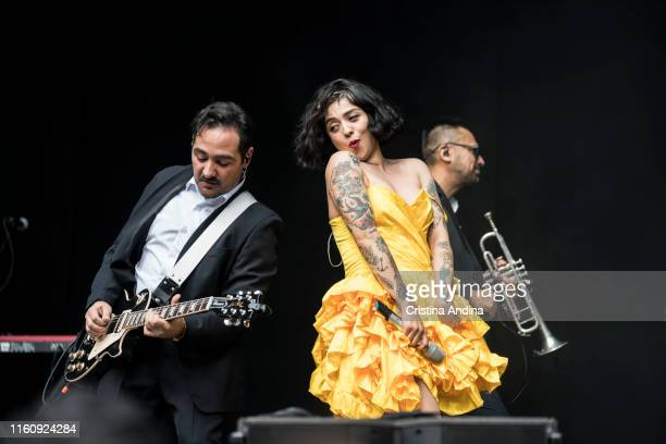Mon Laferte performs in the PortAmérica´s festival on July 6, 2019 in Caldas de Reis, Spain.