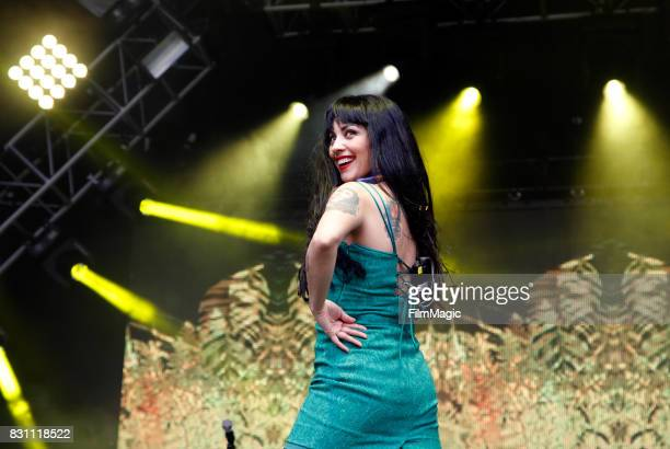 Mon Laferte performs on the Sutro Stage during the 2017 Outside Lands Music And Arts Festival at Golden Gate Park on August 13 2017 in San Francisco...