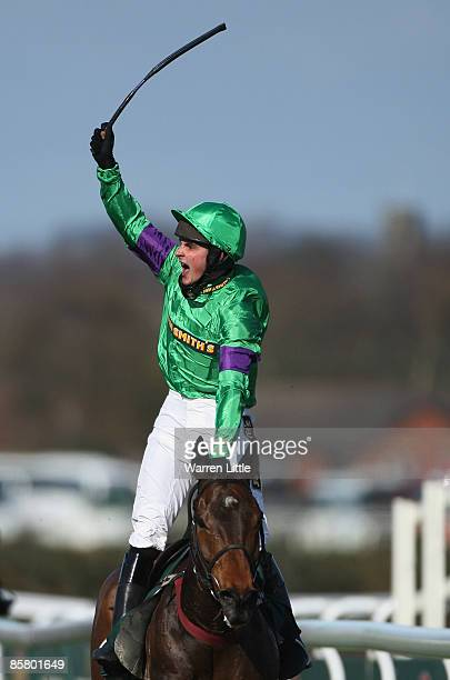Mon Mome ridden by Liam Treadwell wins the John Smith's Grand National Steeple Chase Handicap at Aintree on April 4 2009 in Liverpool England