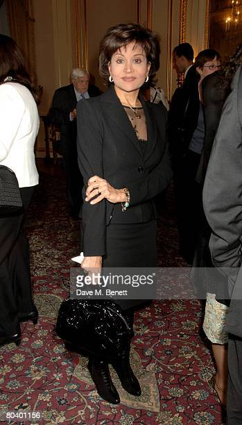Mona Abdel Nasser attends the book launch of Rowan Somerville's latest book The End of Sleep at the Egyptian Embassy on March 27 2008 in London...