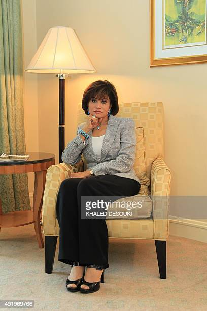 Mona Abdel Nasser daughter of late Egyptian president Gamal Abdel Nasser poses for a picture in Cairo on June 18 2010 AFP PHOTO/KHALED DESOUKI / AFP...