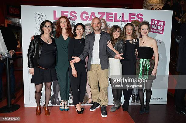 Mona Achache, Audrey Fleurot, Naidra Ayadi, Franck Gastambide, Camille Chamoux, Camille Cottin and Josephine de Meaux attend the Paris premiere of...