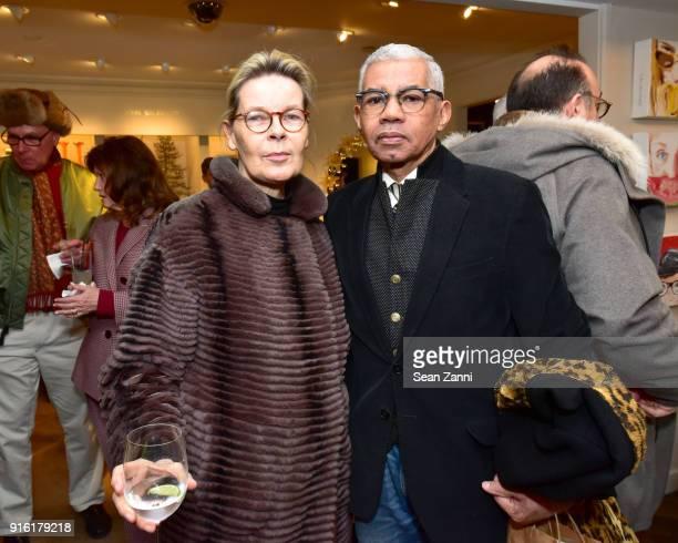 Mona Arnold and Freddie Leiba attend Jane Fonda, Brooke Hayward and Linda Fargo celebrate Hayward + Hopper at Bergdorf Goodman on February 8, 2018 in...