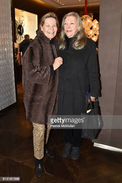 Mona Arnold and Julie Britt attend the launch of NORELL Master of American Fashion by Jeffrey Banks and Doria de La Chapelle hosted by Baccarat at...