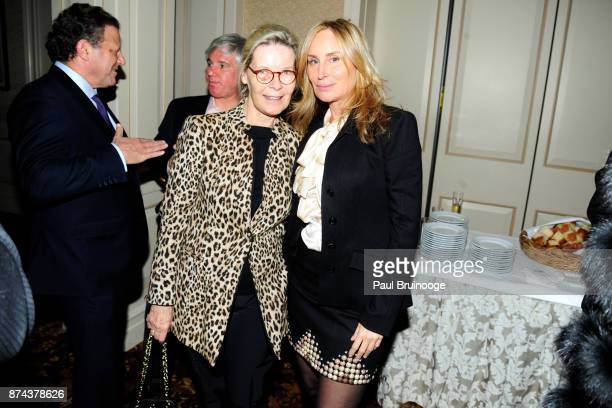 Mona Arnold and Sonja Morgan attend In Celebration of the life of Lee Mellis at 21 Club on November 14 2017 in New York City