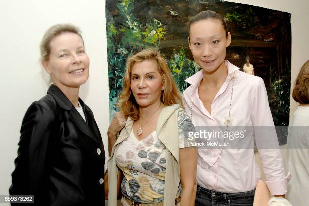 Mona Arnold Christina McGillicuddy and Gigi Tang attend Opening Reception for DARIUS YEKTAI All About Love at ThirtySix at Leila TaghiniaMilani...