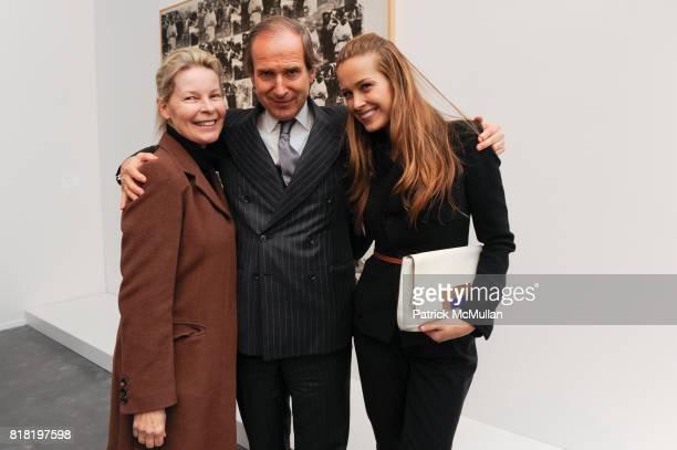 Mona Arnold, Simon de Pury and Petra Nemcova attend PHILLIPS DE PURY & Company's opening reception for CARTE BIANCHE, PHILLIPE SEGALOT, and...