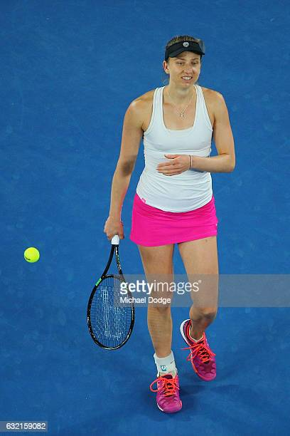 Mona Barthel of Germany celebrates her win in her third round match against Ashleigh Barty of Australia on day five of the 2017 Australian Open at...