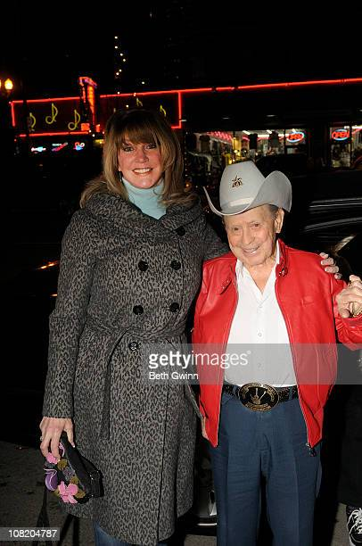 Mona Dickens with Husband Little Jimmy Dickens attends Little Jimmy Dicken's Birthday Party at Rippy's Bar Grill on January 19 2011 in Nashville...