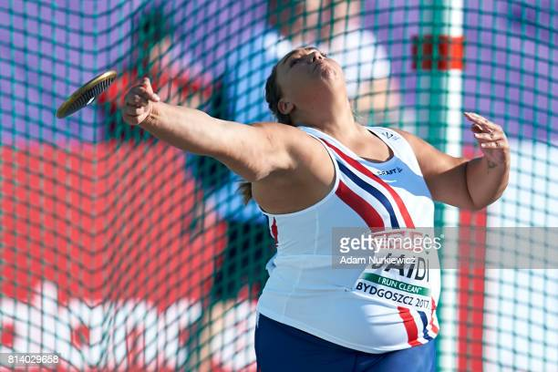 Mona Ekroll Jaidi from Norway competes in women's discus throw qualification during Day 1 of European Athletics U23 Championships 2017 at Zawisza...