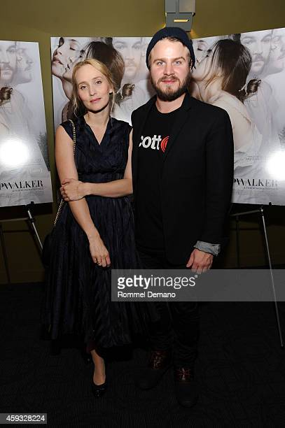 Mona Fastvold and Brady Corbet attend 'The Sleepwalker' New York Premiere at Sunshine Landmark on November 20 2014 in New York City