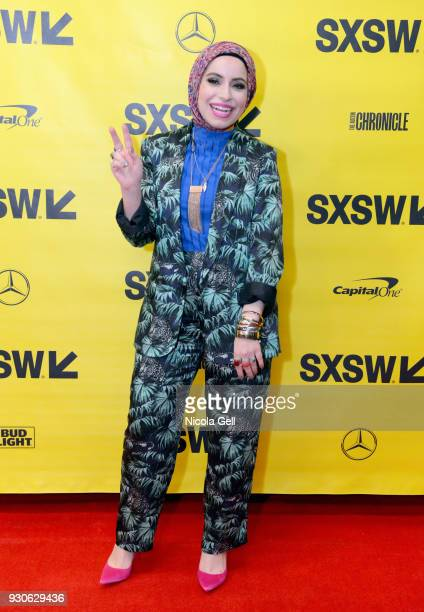 Mona Haydar attends Katie Couric podcast LIVE The Muslim Next Door during SXSW at Austin Convention Center on March 11 2018 in Austin Texas