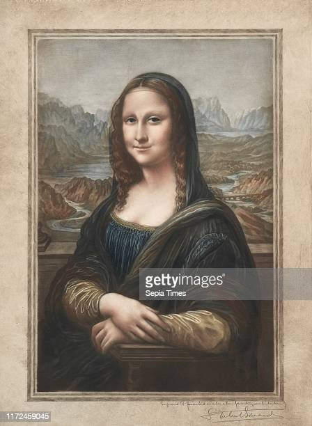 Mona Lisa 19th20th century Samuel ArlentEdwards Mezzotint