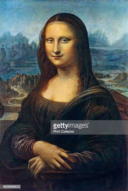 'Mona Lisa' c1505 A colour print of Leonardo's famous painting of Mona Lisa or La Gioconda from Famous Paintings with an Introduction by Gilbert...