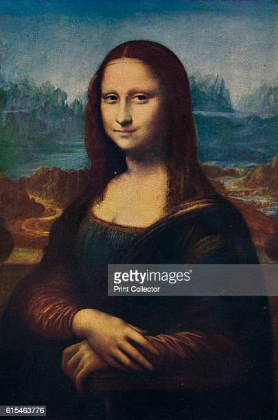 Mona Lisa' c16th century Copy of famous portrait of Lisa Gherardini wife of Francesco del Giocondo from original work by Leonardo di ser Piero da...