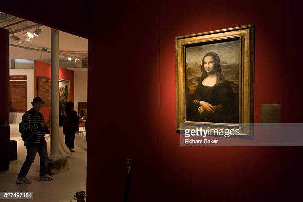 Mona Lisa copy at Chateau de Clos Luc�� home to Leonardo da Vinci for the last 3 years of his life and now a celebration of his life and achievements...