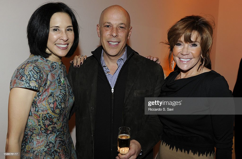 Mona Look-Mazza, Tony DiLucia and Angie Stewart attend Angie Stewart, Carolyn Powers, Mona Look-Mazza And Richard Edwards host an exclusive celebration of the Fendi Resort 2013 Collection at Baldwin Gallery on December 22, 2012 in Aspen, Colorado.