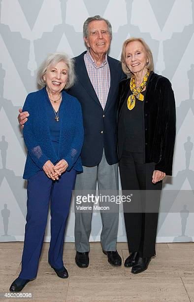 Mona Malden Eva Marie Saint and husband Jeffrey Hayden attend The Academy Of Motion Picture Arts And Sciences' 60th Anniversary Screening Of On The...
