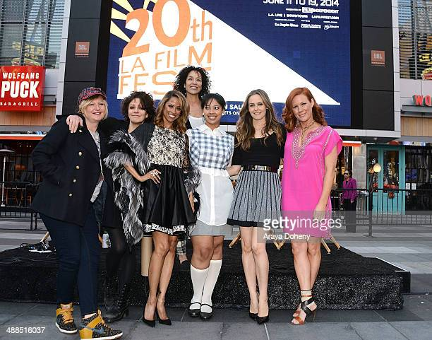 Mona May Amy Heckerling Stacey Dash Stephanie Allain Stephanie Allain Alicia Silverstone and Elisa Donovan attend the Film Independent's prefestival...