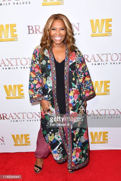"Mona Scott-Young is seen as We TV celebrates the premiere of ""Braxton Family Values"" at Doheny Room on April 02, 2019 in West Hollywood, California."