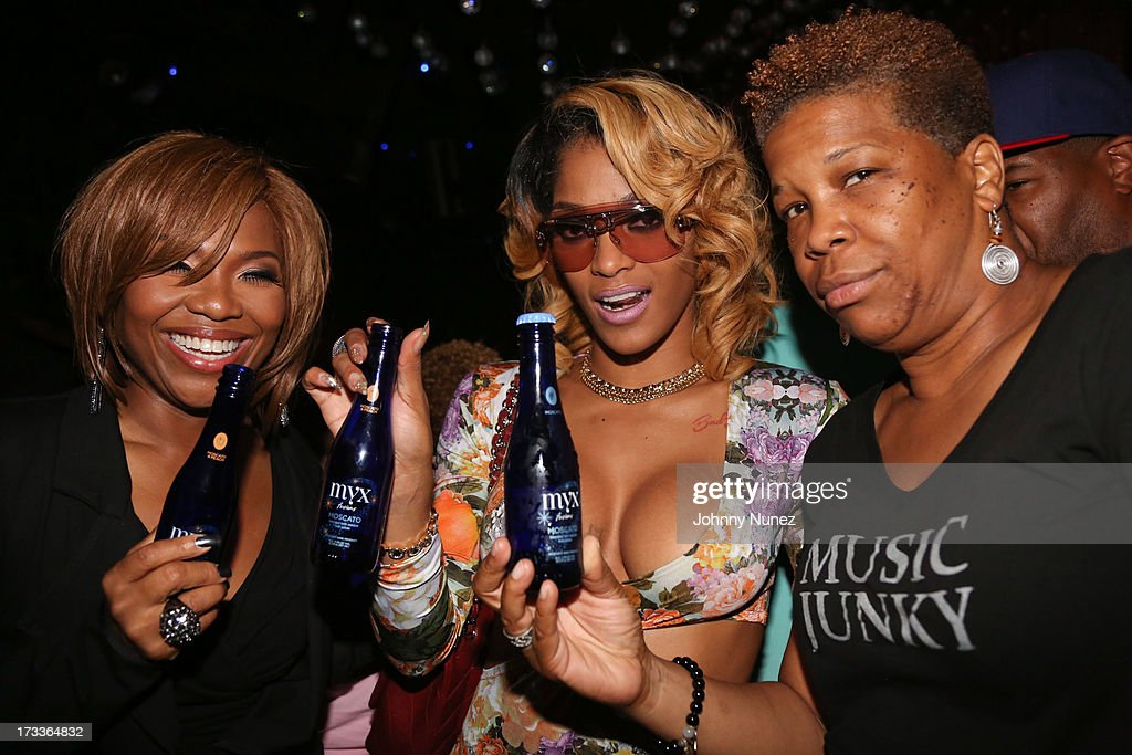Mona Scott-Young, Joseline Hernandez and Rowena Husbands attend The D9 Agenda After Party Featuring Wale at Greenhouse on July 11, 2013 in New York City.