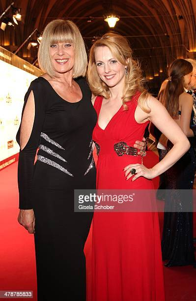 Mona Seefried Natalie Alison attend the 5th Filmball Vienna at City Hall on March 14 2014 in Vienna Austria