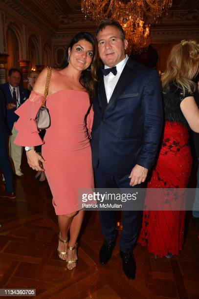 Mona Sharaf and Adam Weiss attend Country Comes To MaraLago at MaraLago on February 23 2019 in Palm Beach FL
