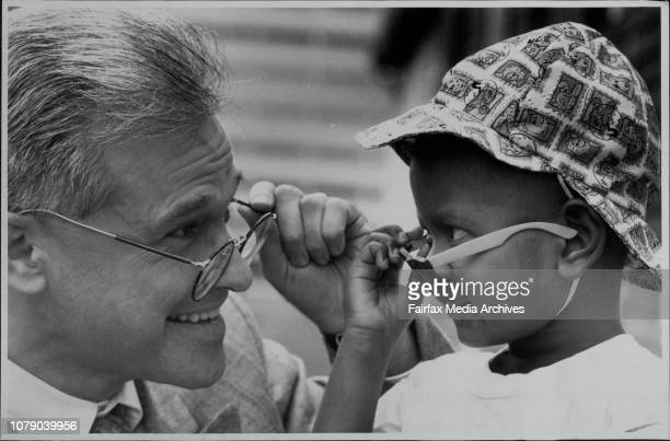 Mona Sikilabo after her eye operation at Prince of Wales Children Hospital with Dr Les White.Seeing Is Believing: Dr White says goodbye to young Mona...