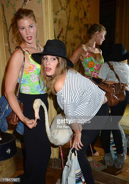 Mona Walravens and Juliette Dol attend the Lui Magazine Launch Party at 34 Avenue Foch on September 3 2013 in Paris France