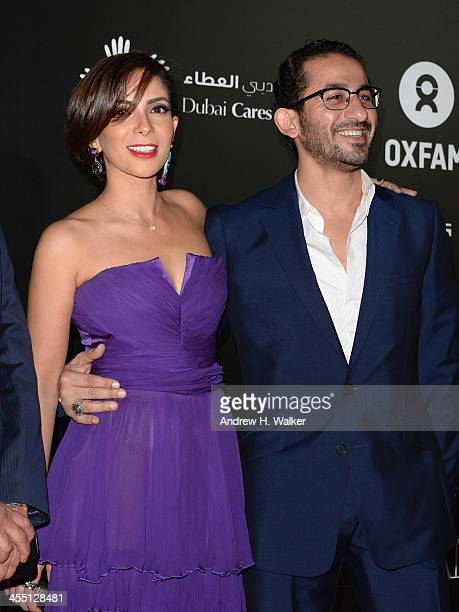 Mona Zaki and Ahmed Helmy attend the Oxfam Charity Gala during day six of the 10th Annual Dubai International Film Festival held at the Armani Hotel...