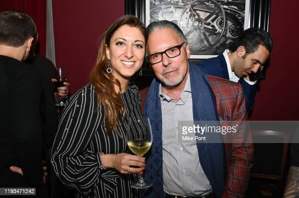 Mona Zalatan and Jay Abraham attend an UNBLINDED Dinner Hosted By Jay Abraham Sean Callagy And Shannon O'Donnell on January 11 2020 in Paramus New...