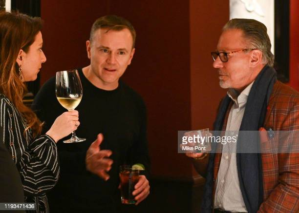Mona Zalatan Sean Callagy and Jay Abraham attend an UNBLINDED Dinner Hosted By Jay Abraham Sean Callagy And Shannon O'Donnell on January 11 2020 in...