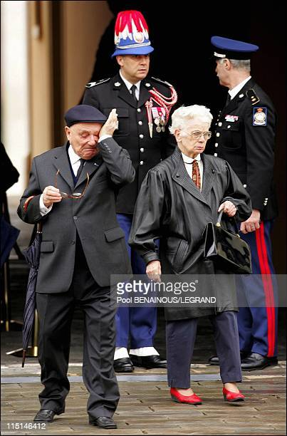 Monacans and residents of the Principality pay their last respects to Prince Rainier III in Monaco City, Monaco on April 11, 2005 - Monacans and...