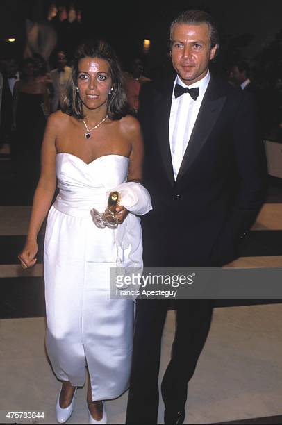 Monaco Christina Onassis with husband Thierry Roussel attending the Red Cross charity Ball in Monaco