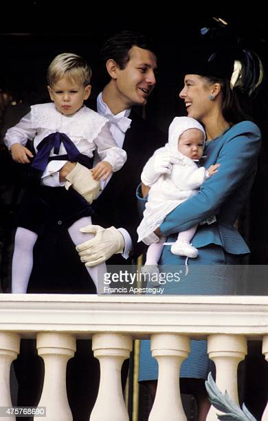Monaco 19 November 1986, Princess Caroline of Monaco and her second husband Stefano Casiraghi on the balcony of the Palace of the Princes for the...