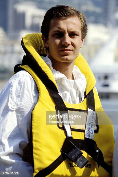 Monaco, 26 May 1984, Stefano Casiraghi, the second husband of Princesss Caroline of Monaco. He was killed in a speed boat racing accident in 1990.,