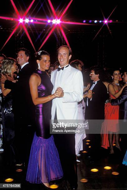 Monaco 7 August 1987 Albert Prince of Monaco dances with his sister Princess Stephanie during the annual Red Cross Ball Prince Albert of Monaco...