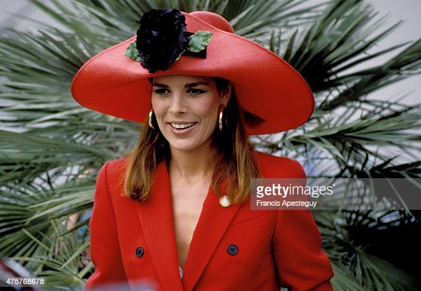 Monaco 7 May 1988 Princess Caroline of Monaco attends the annual Flower Show