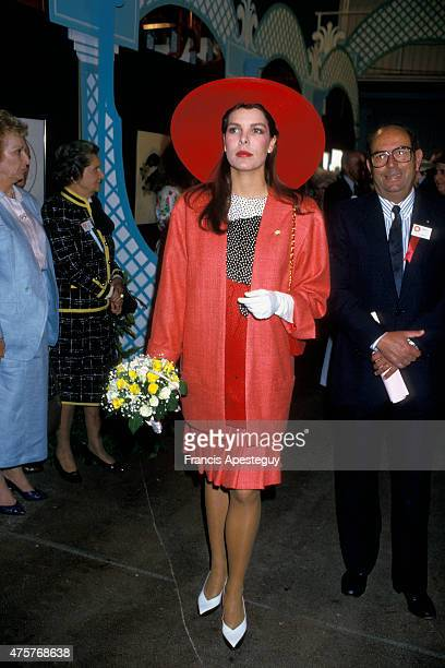 Monaco 9 May 1987 Princess Caroline of Monaco at the annual Flower Show