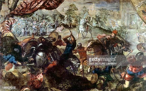 Monaco Alte Pinakothek The Battle of Legnano by Jacopo Robusti known as Tintoretto