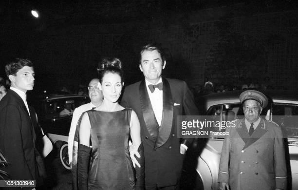 Monaco août 1961 soirée de gala au profit de la Croix Rouge sous la présidence de la princesse Grace au Monte Carlo Sporting Club Ici l'arrivée de la...
