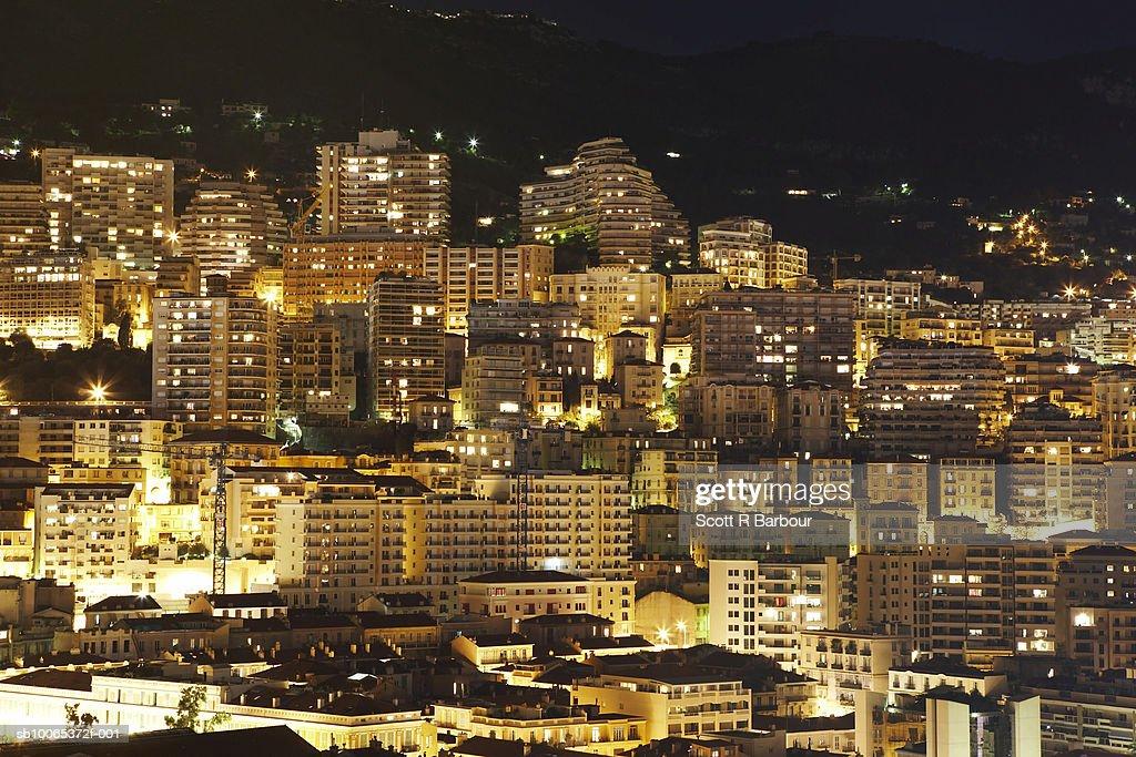 Monaco at night. : Foto stock