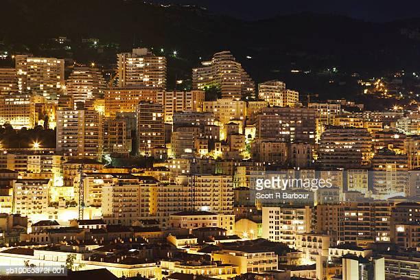 Monaco at night.